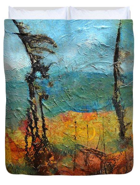 Windswept Pines Duvet Cover