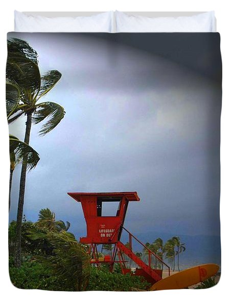 Windy Day In Haleiwa Duvet Cover by Mark Gilman