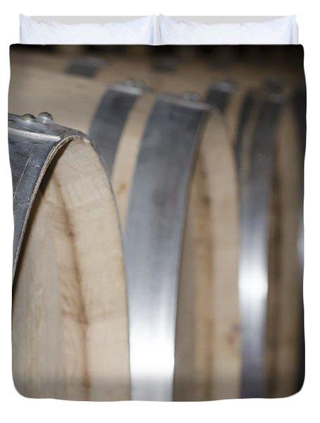 Wine Barrels Duvet Cover by Mats Silvan