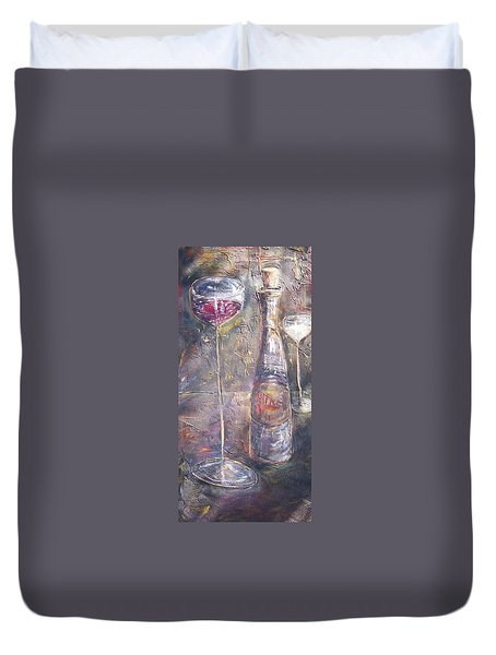 Wine Characters Duvet Cover