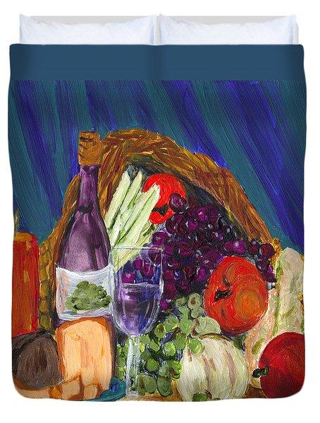 Wine Cornucopia Duvet Cover