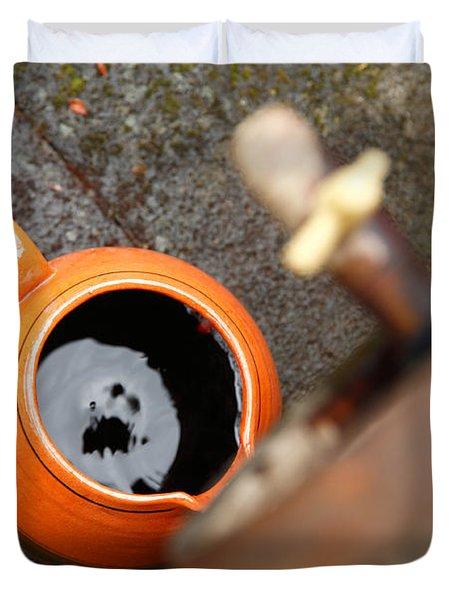 Wine Dripping Duvet Cover by Gaspar Avila