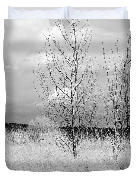 Duvet Cover featuring the photograph Winter Bare by Kathleen Grace
