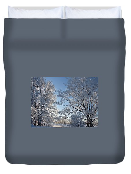 Winter Ice Duvet Cover