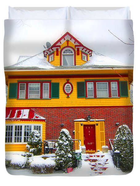 Winter In Ditmas Park Duvet Cover by Mark Gilman