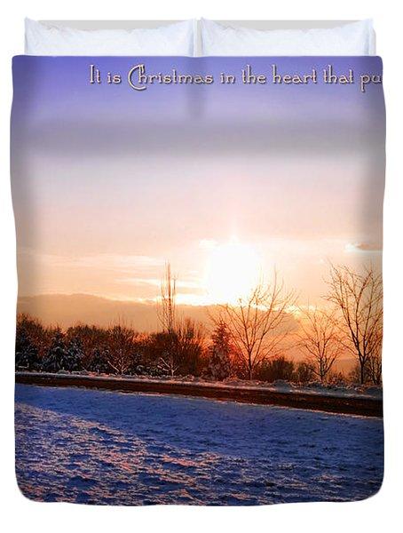 Winter Landscape Connecticut Usa Duvet Cover by Sabine Jacobs