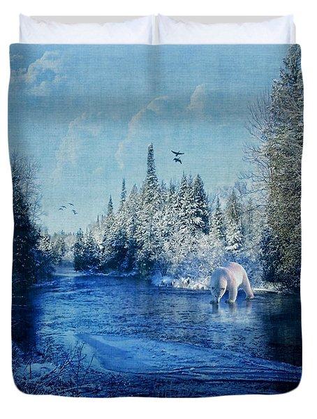 Winter Paradise Duvet Cover by Lianne Schneider