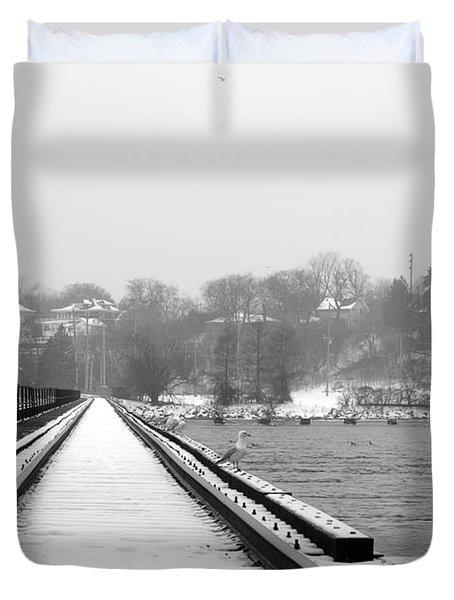 Winter Rails Duvet Cover by Joel Witmeyer