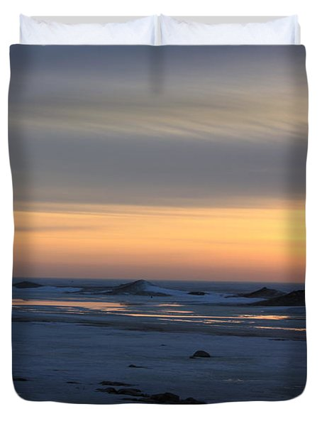 Winter Sleeps Duvet Cover