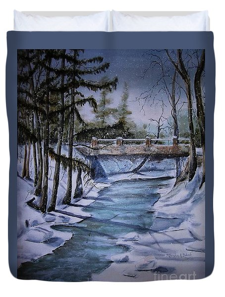 Winter Solitude Duvet Cover by Marylyn Wiedmaier