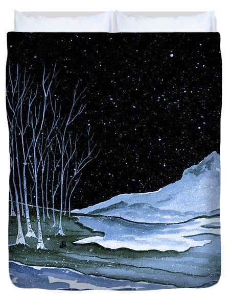 Winter Solstice Duvet Cover by Brenda Owen