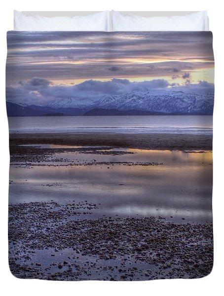 Winter Sunset Duvet Cover by Michele Cornelius