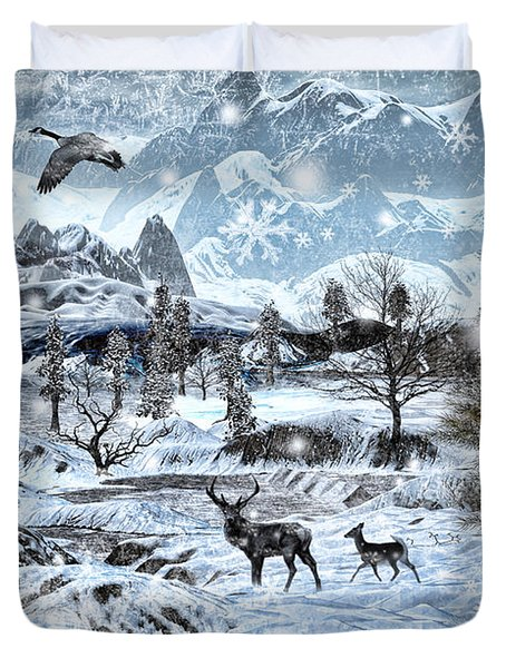 Winter Wonderland Duvet Cover by Lourry Legarde