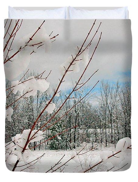 Winter Woods Duvet Cover by Joann Vitali