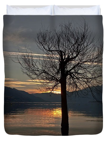 Wintertree In The Evening Duvet Cover by Joana Kruse