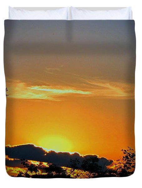 Wisconsin Sunset Duvet Cover