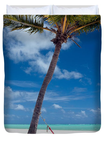 Duvet Cover featuring the photograph Wish You Were Here by Karen Lee Ensley