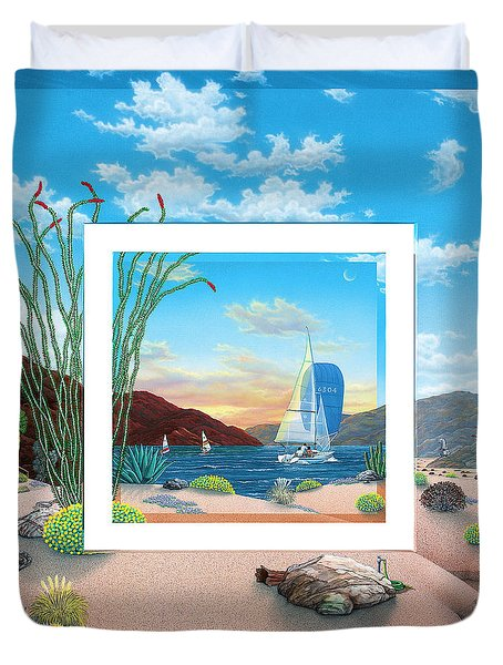 Wish You Were Here Duvet Cover by Snake Jagger