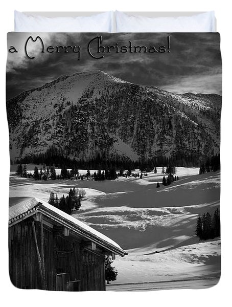 Wishing You A Merry Christmas Austria Europe Duvet Cover by Sabine Jacobs