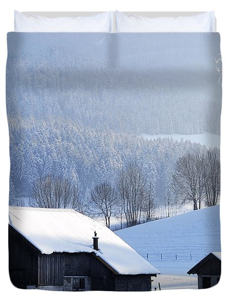 Wishing You A Wonderful Christmas Duvet Cover by Sabine Jacobs