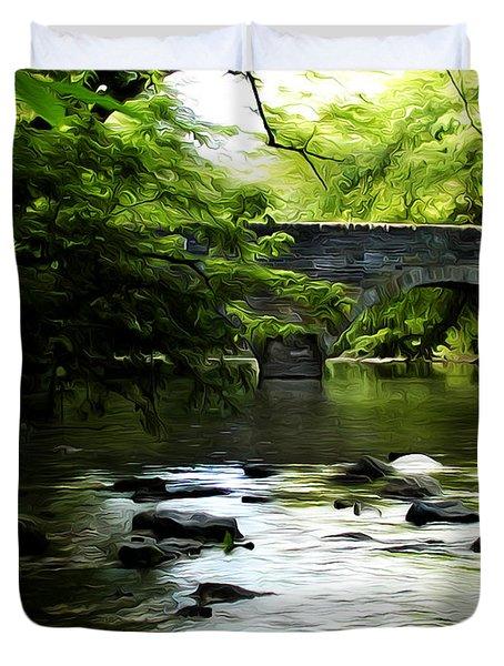 Wissahickon Bridge Duvet Cover by Bill Cannon