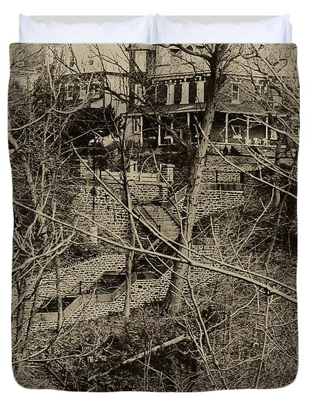 Wissahickon's 100 Steps Duvet Cover