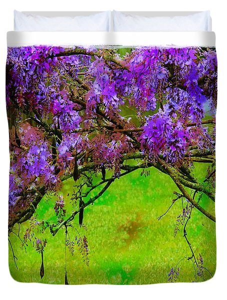 Wisteria Bower Duvet Cover by Judi Bagwell