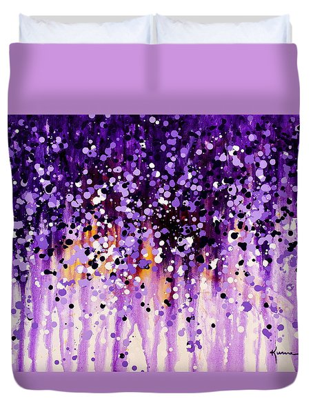 Duvet Cover featuring the painting Wisteria by Kume Bryant