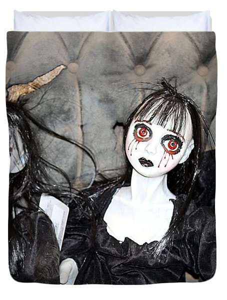 Witches Of Hallow's Eve Duvet Cover by Elizabeth Winter