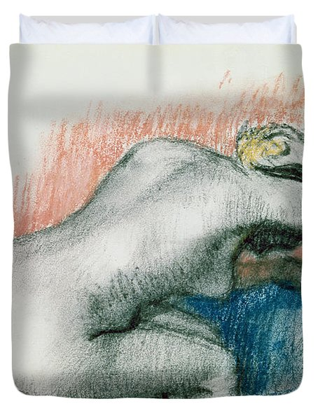 Woman Washing In The Bath Duvet Cover by Edgar Degas