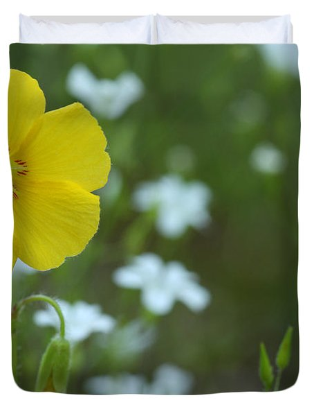 Wood Sorrel And Sandwort Duvet Cover