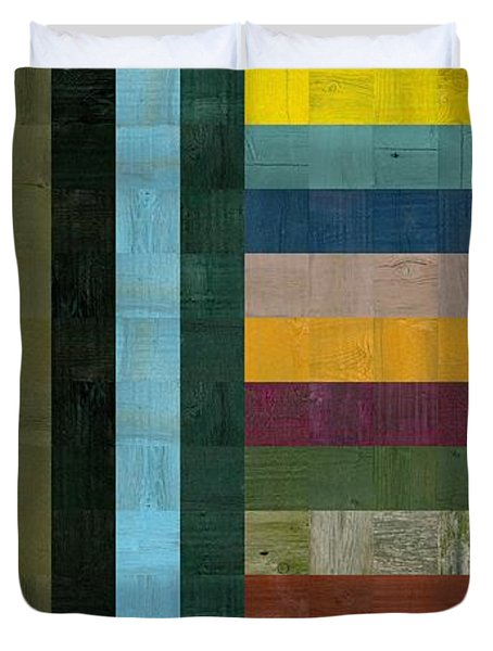 Wooden Abstract Vl  Duvet Cover by Michelle Calkins