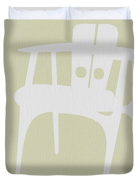 Wooden Chair Duvet Cover by Naxart Studio