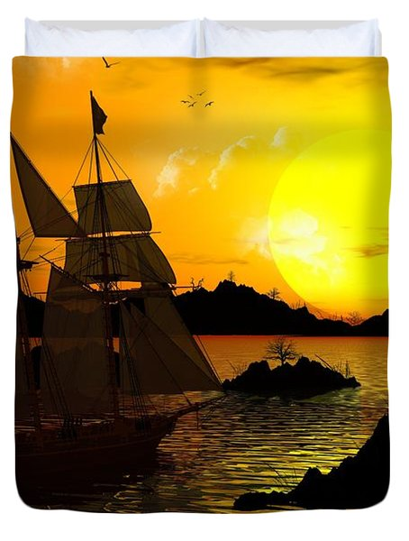 Wooden Ships Duvet Cover