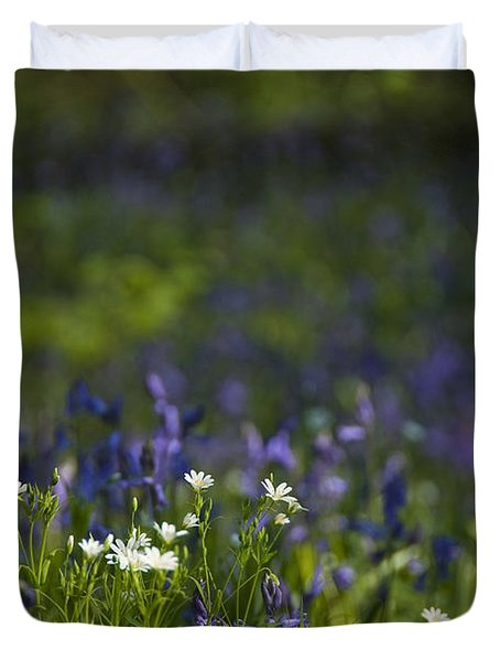 Duvet Cover featuring the photograph Woodland Flowers by Trevor Chriss
