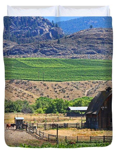 Working Farm Duvet Cover by Nancy Harrison