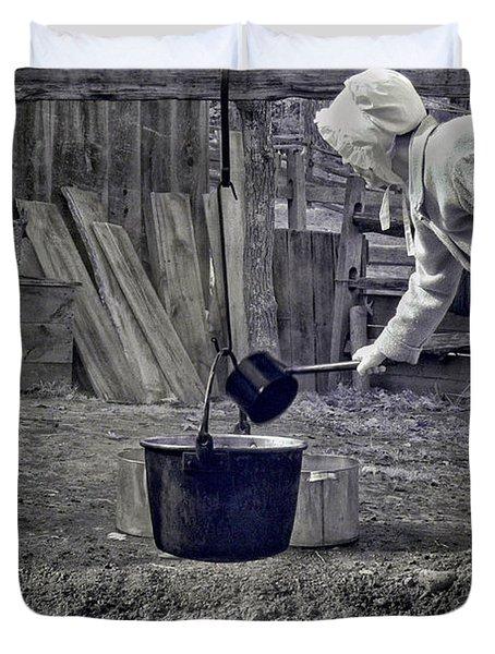Working Girl Duvet Cover by Joann Vitali
