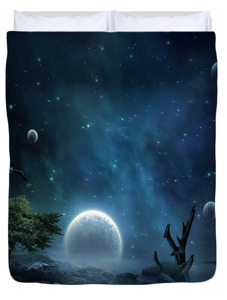World Beyond Duvet Cover by Lourry Legarde