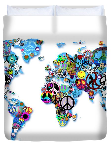 World Peace Duvet Cover by Bill Cannon