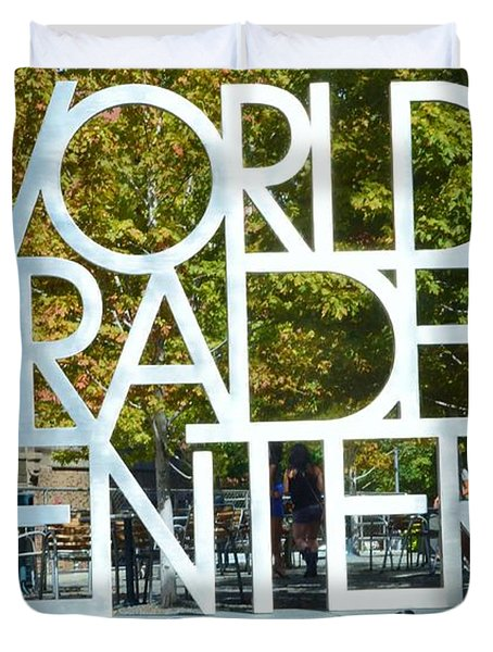 World Trade Center Duvet Cover by Kathleen Struckle