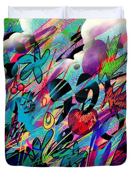 Wounded Fruit Duvet Cover by Rachel Christine Nowicki