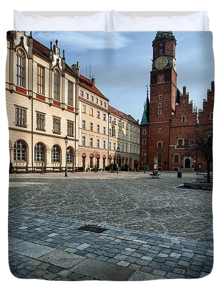 Wroclaw Town Hall Duvet Cover
