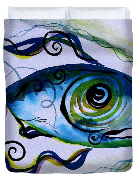 Wtfish 009 Duvet Cover