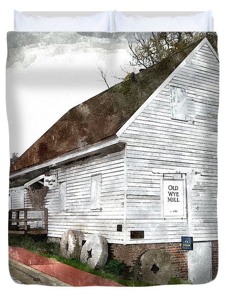 Wye Mill - Water Color Effect Duvet Cover by Brian Wallace