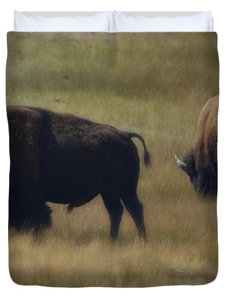 Wyoming Buffalo Duvet Cover