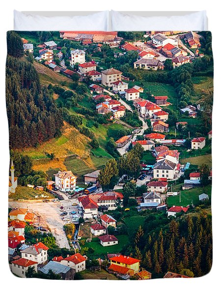 Yagodina Village Duvet Cover by Evgeni Dinev