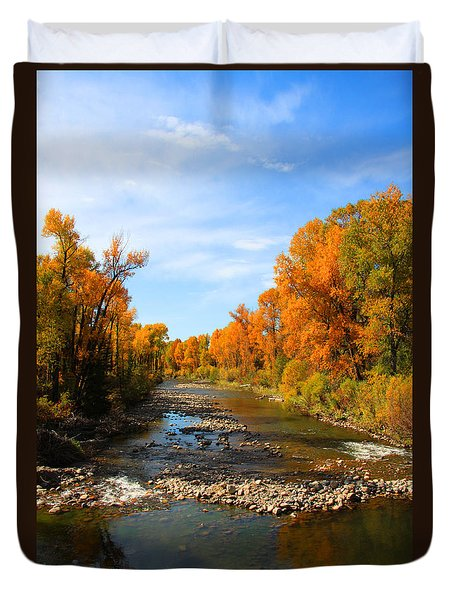 Yampa River Duvet Cover by Dana Kern