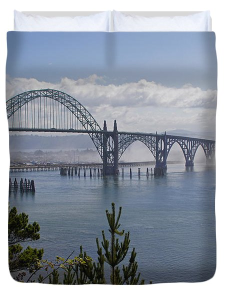 Yaquina Bay Bridge Duvet Cover by Mick Anderson