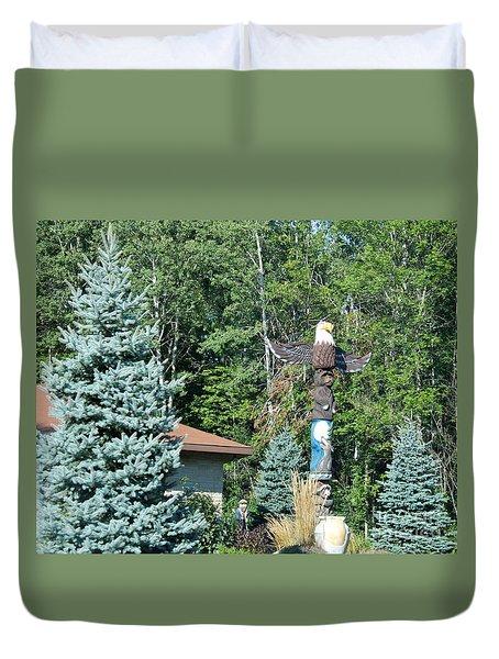 Yard Totem Duvet Cover