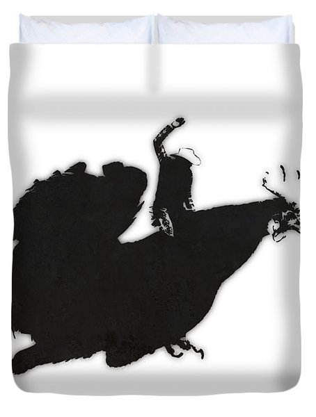 Yeehaaa Duvet Cover by Pixel Chimp
